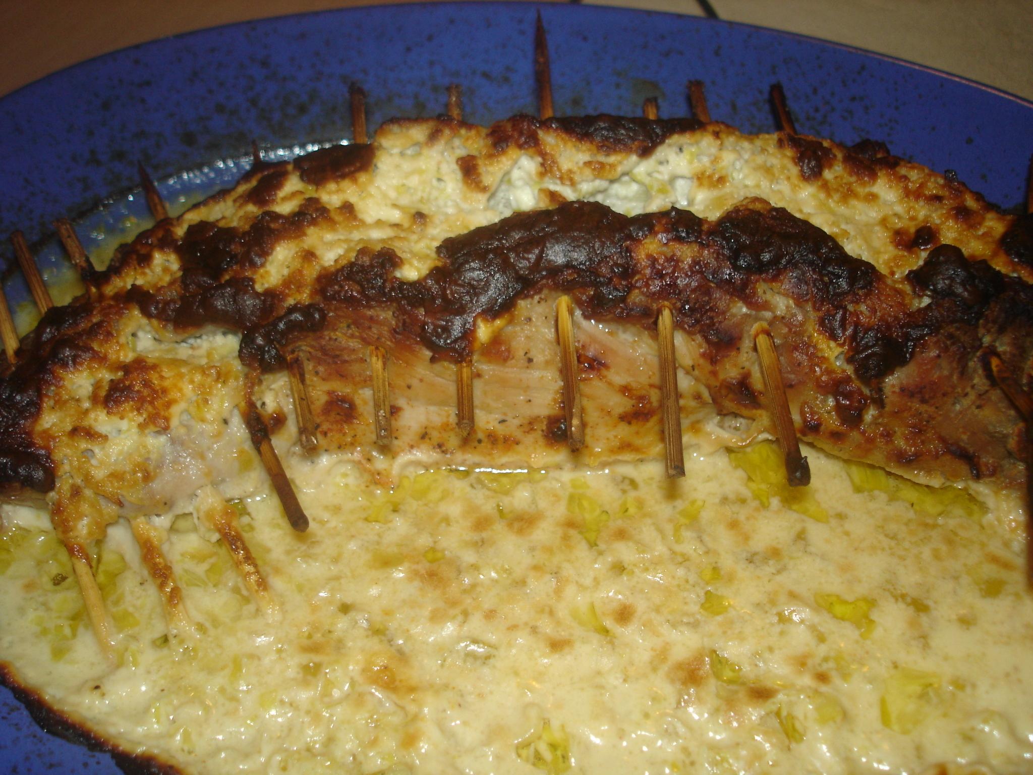 Fetaostfylld hel grillad fläskfilé