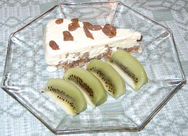 Daimtårta med kiwiklyftor