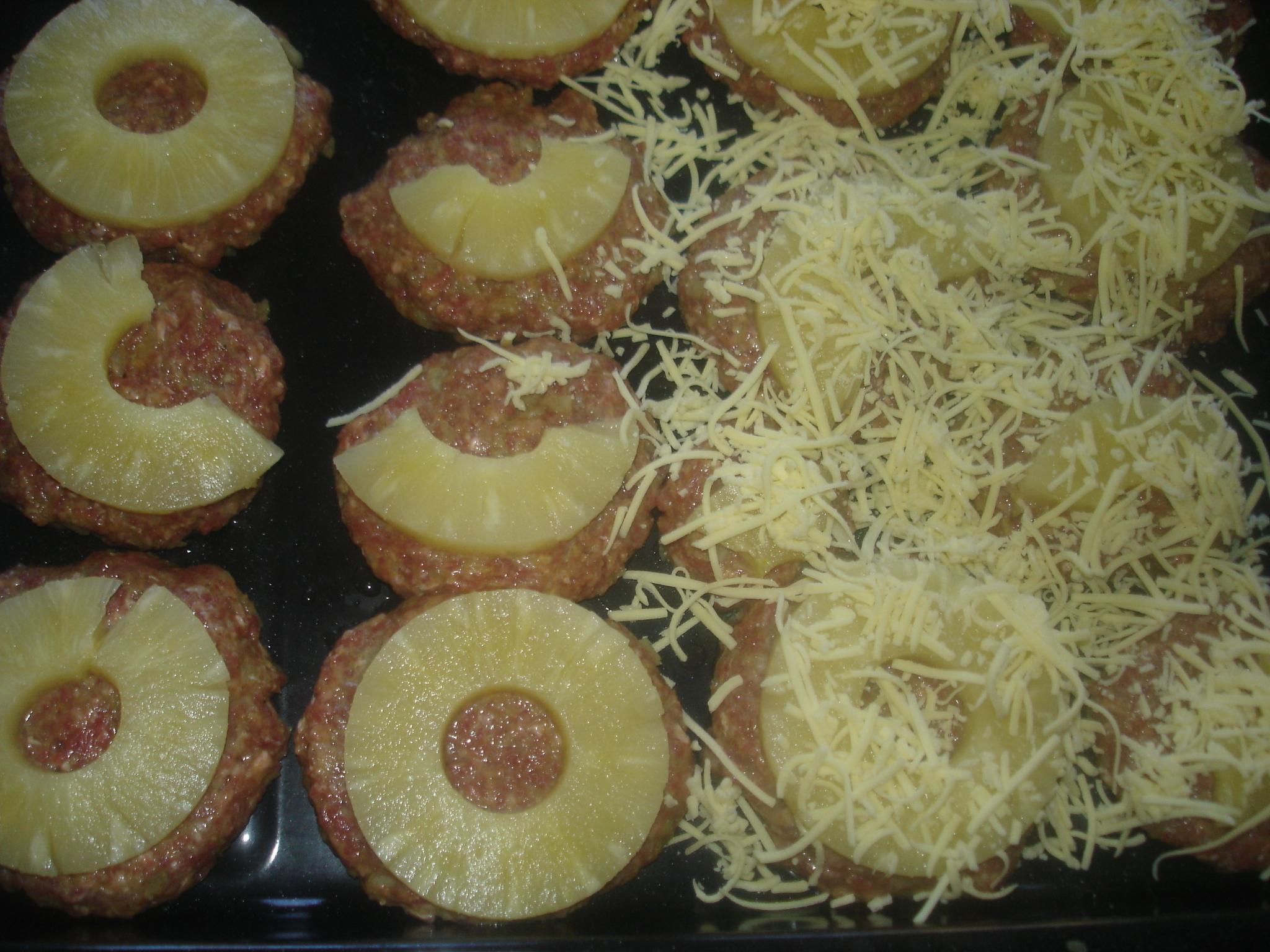 Ananasbiffar i ugn