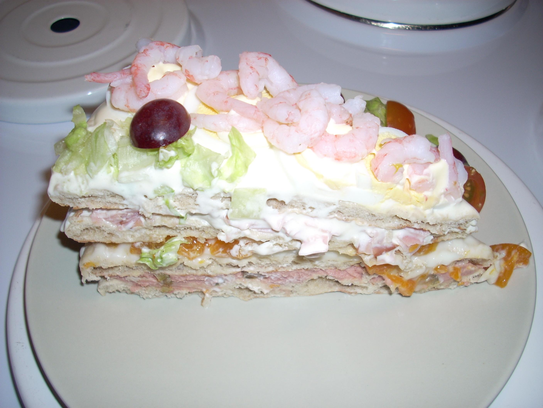 Åkes friska smörgåstårta