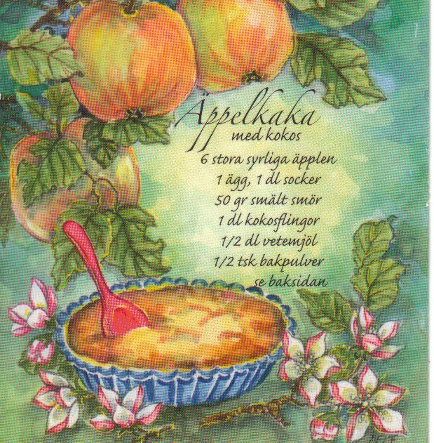 glutenfri kaka med äpplen