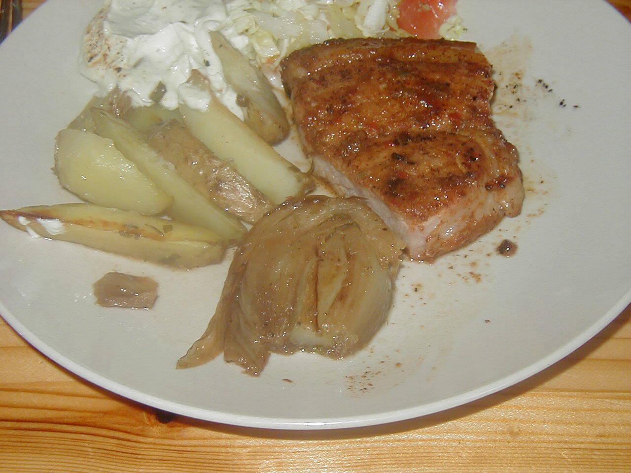 Buljongbrässerad potatis med fänkål