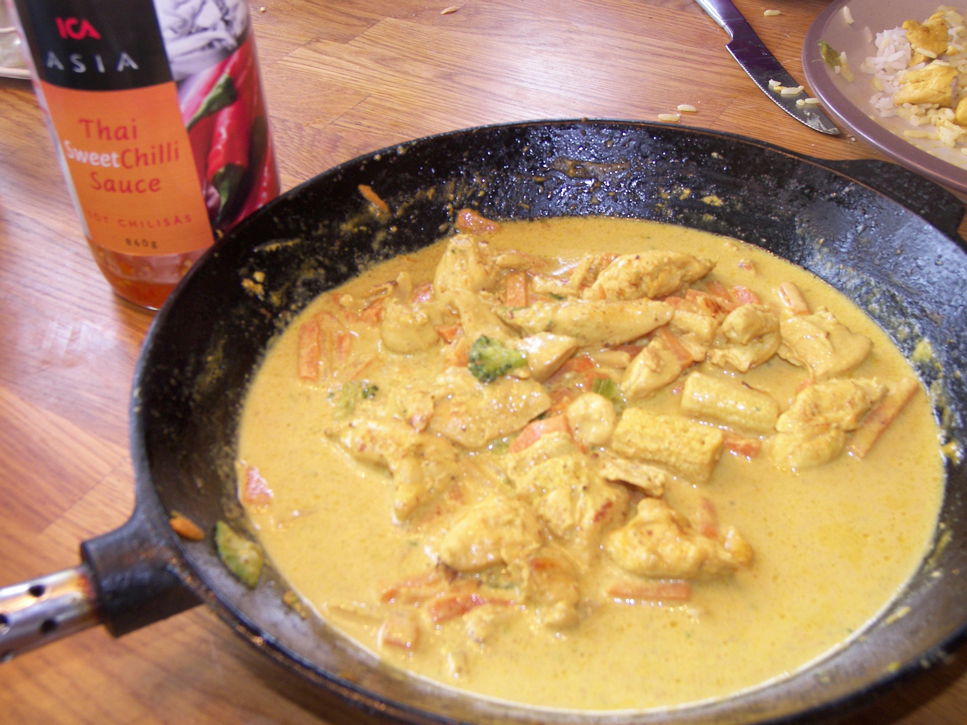 currysås grädde