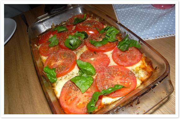 LCHF -Pizzagratäng.