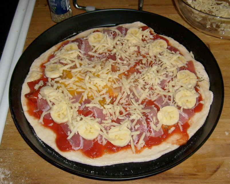 ägg pizza