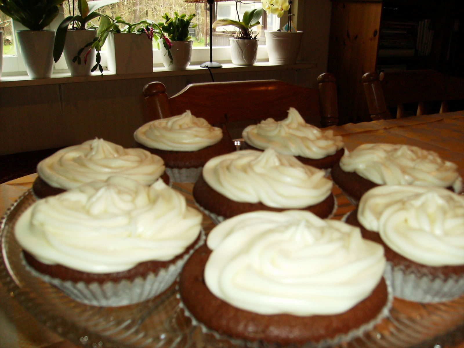 Dumlemuffins med cream cheese frosting