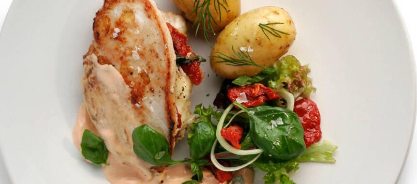tomat och mozzarella i ugn