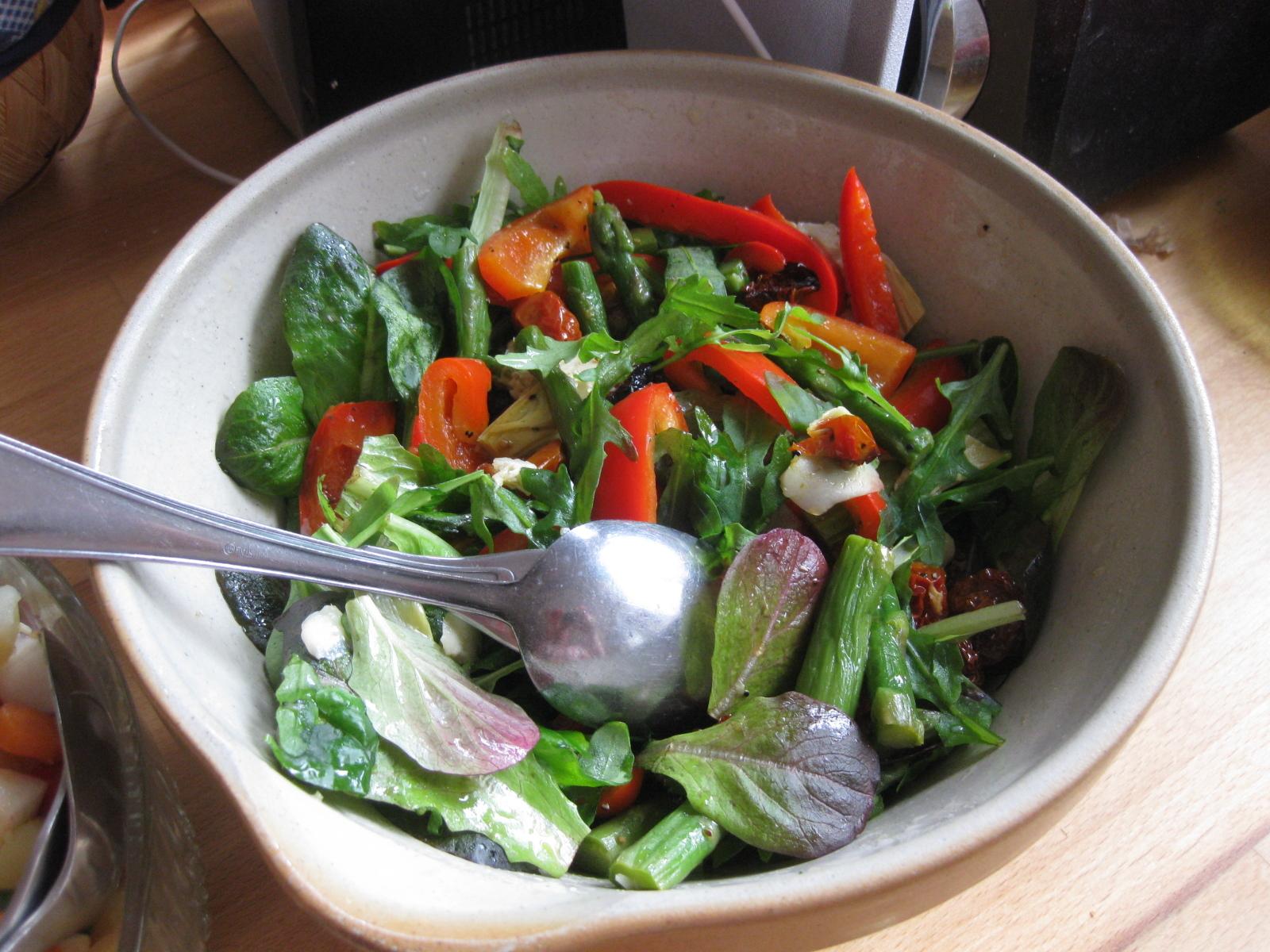Rostad grönsakssallad