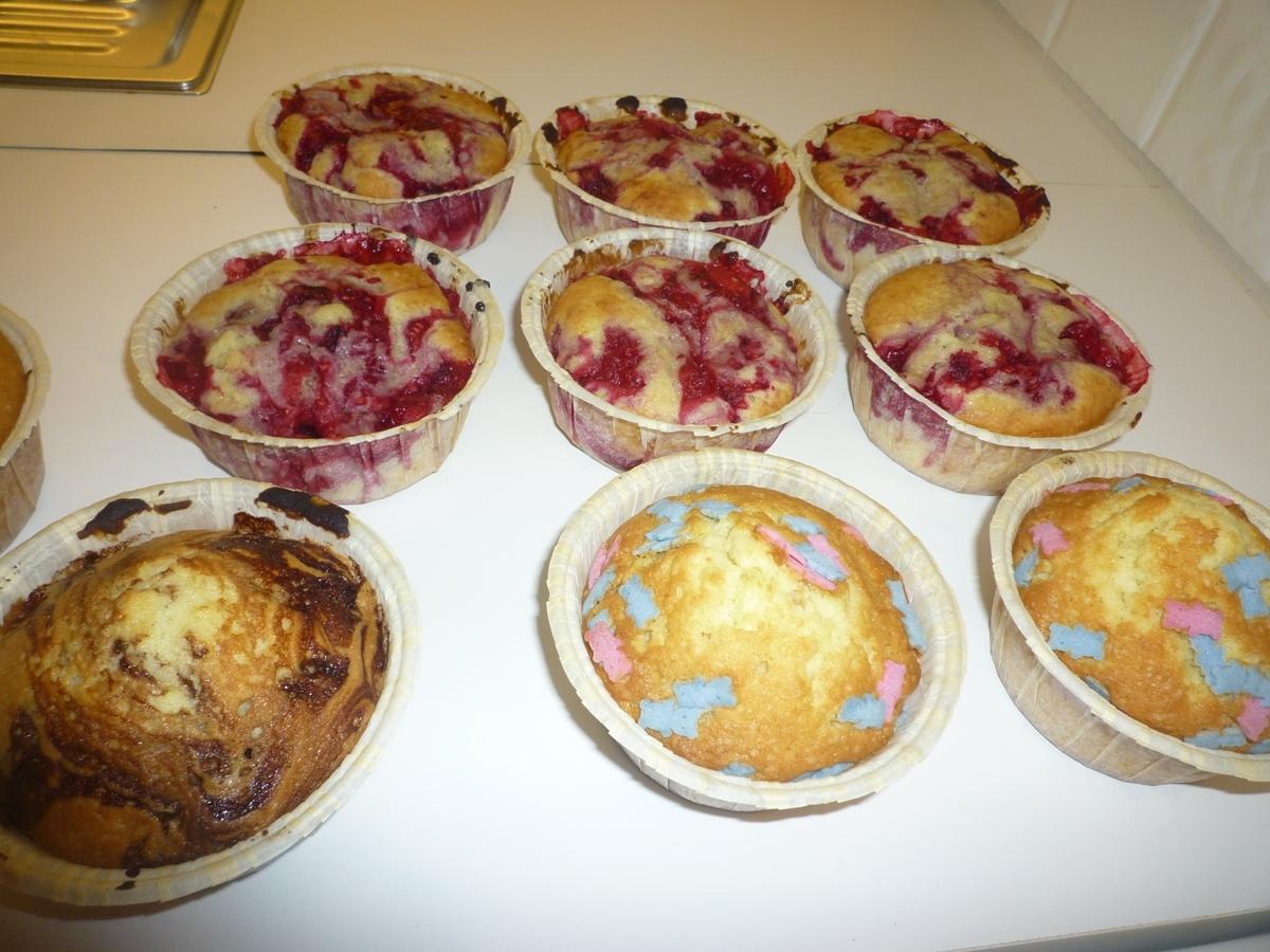 Blåbärsmuffins - muffins med blåbär, hallon eller andra bär