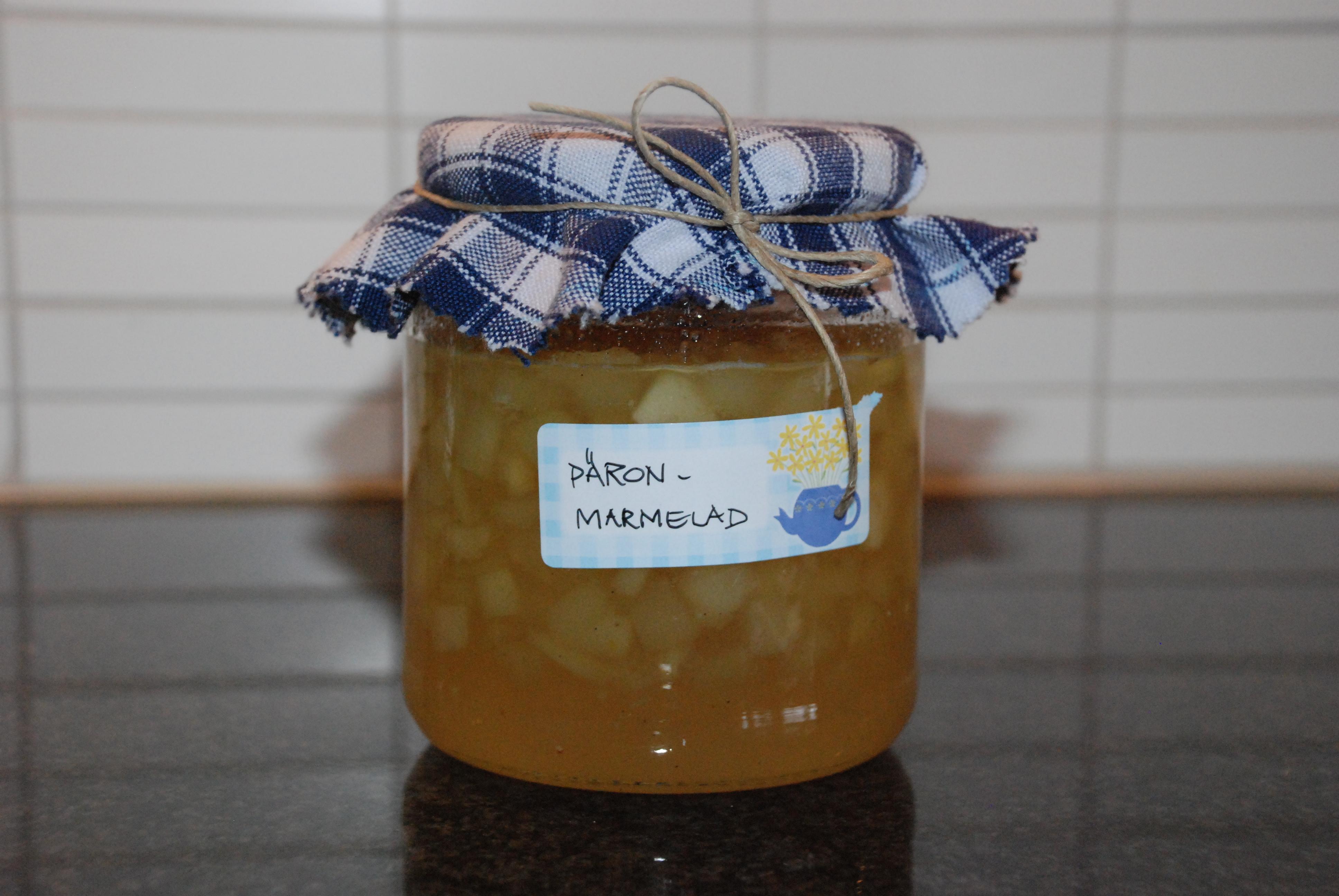 Päronmarmelad med ingefära, vanilj och citron