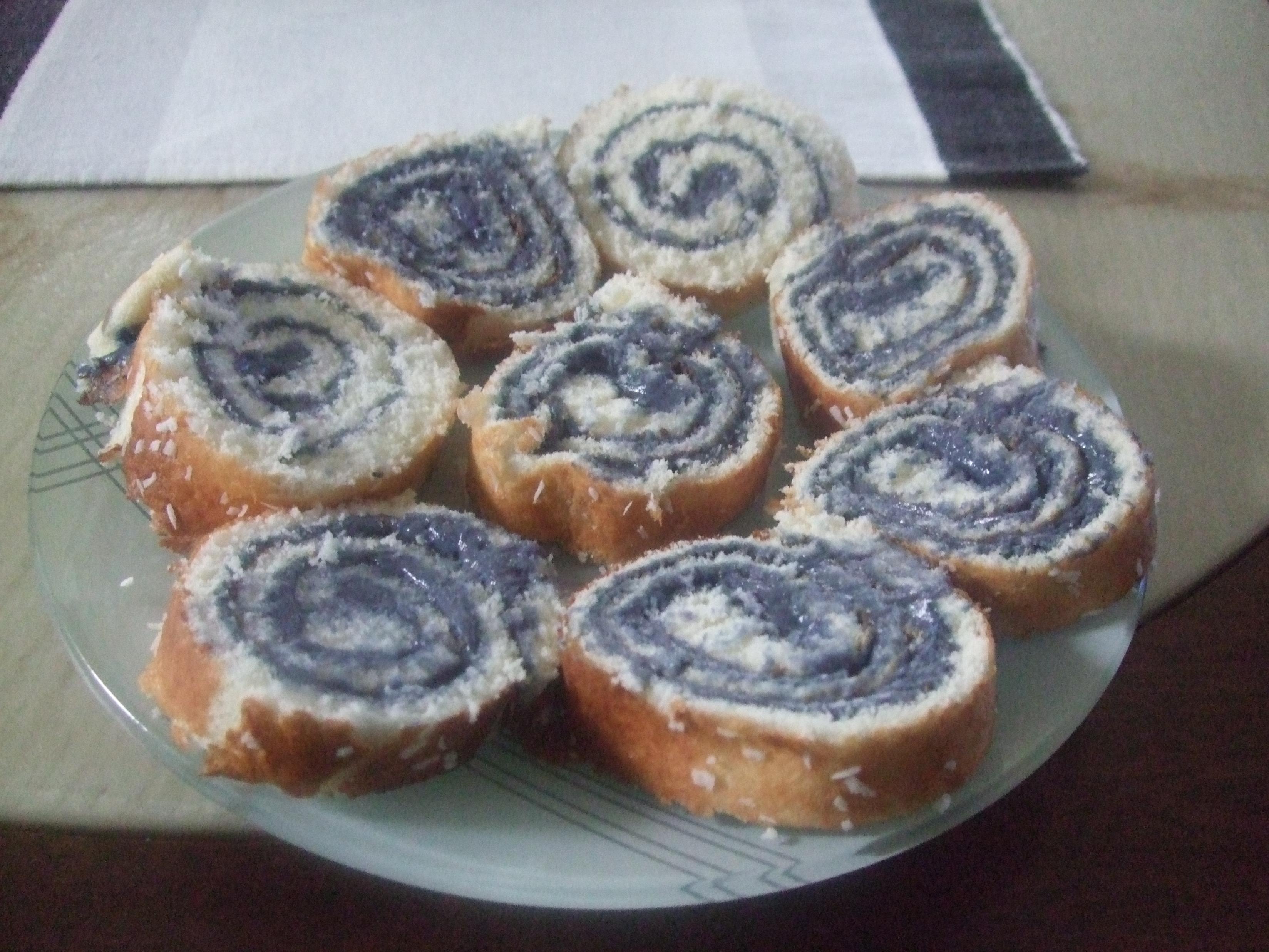 Rulltårta med blåbärsmak