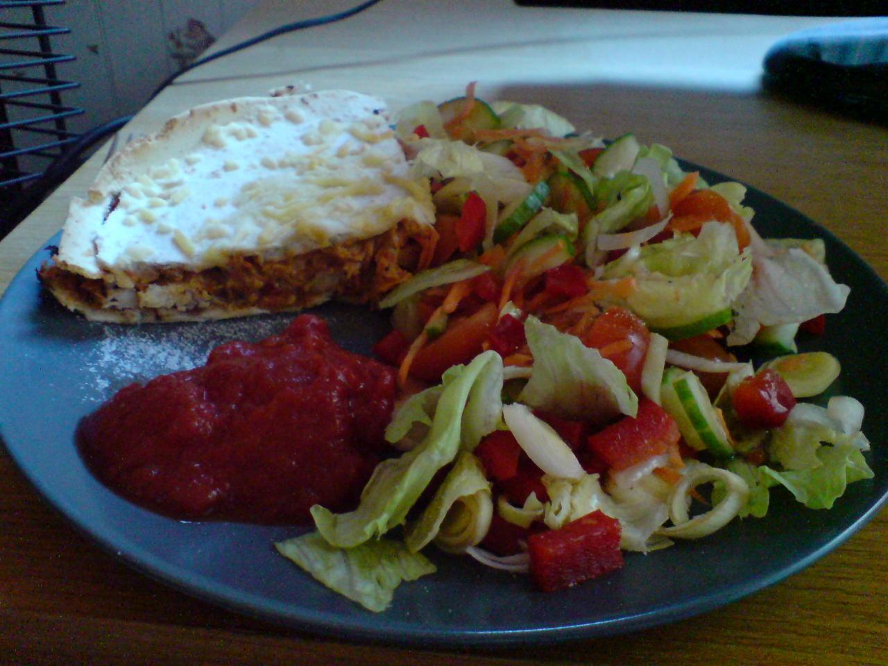 Tortilla tandoori paj
