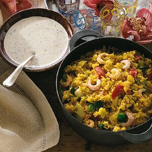 ris räkor curry persilja smör