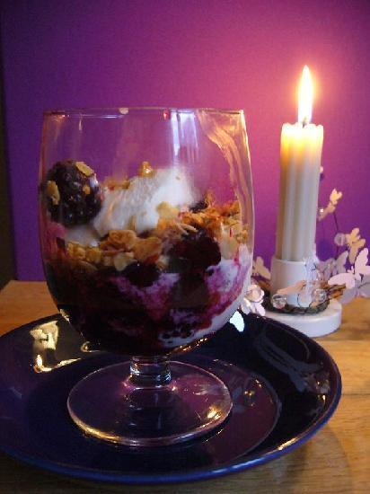 Halloncheesecake i glas