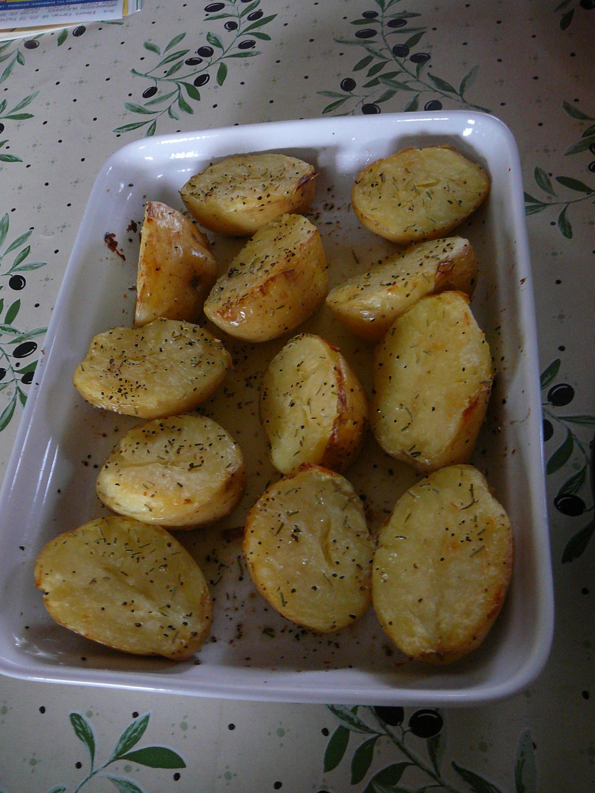 Ugnsrostad potatis med rosmarin