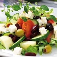 grekisk bön- och potatissallad