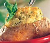 bakad potatis vegetarisk fyllning