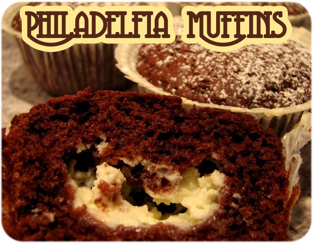 Chokladmuffins med philadelfiaost