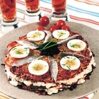 sillröra med ägg och rödlök