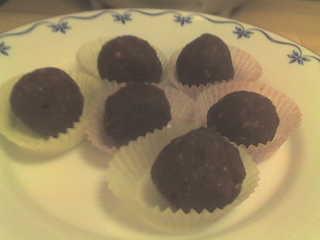 chokladbollar med sötningsmedel
