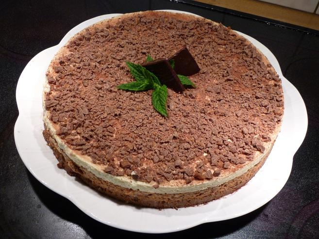 Minchokladcheesecake / After Eight Cheesecake