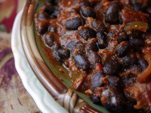 B.B.B. (Barbacued Black Beans)