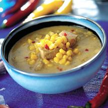 Indisk majssoppa med kyckling