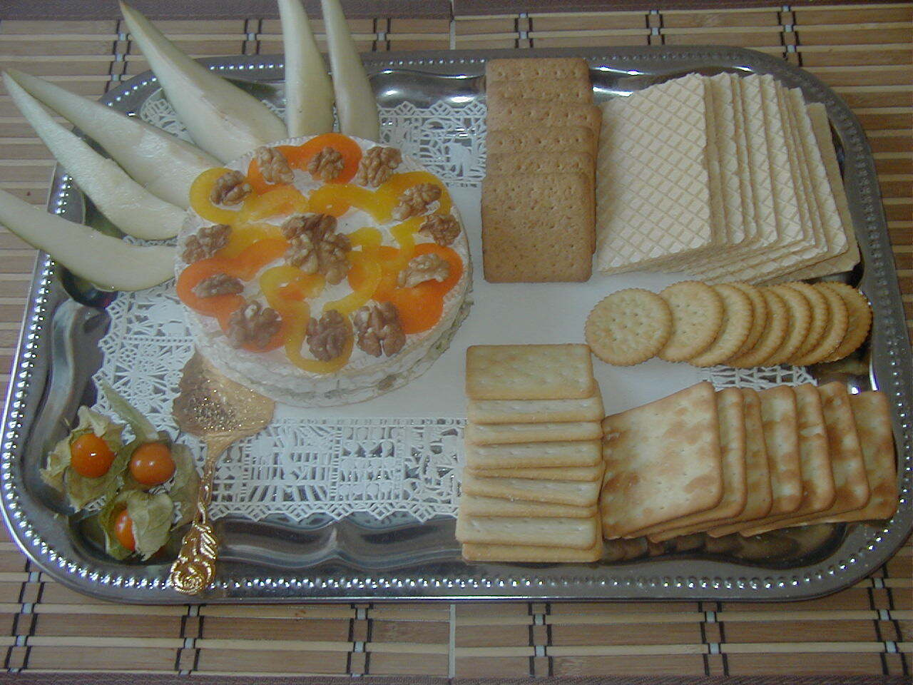 Brietårta med gorgonzola och konjak