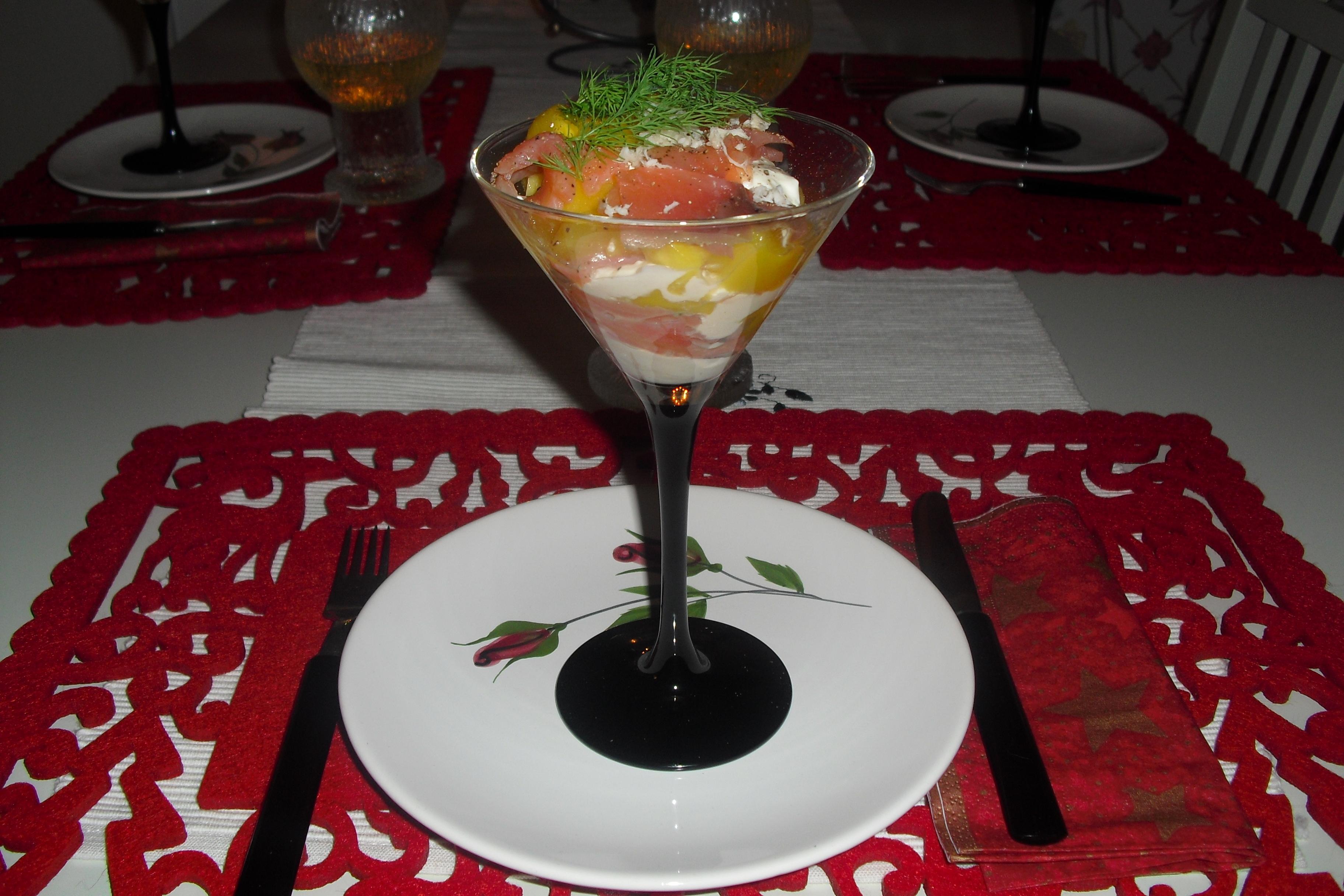 Gravlaxcocktail med mango