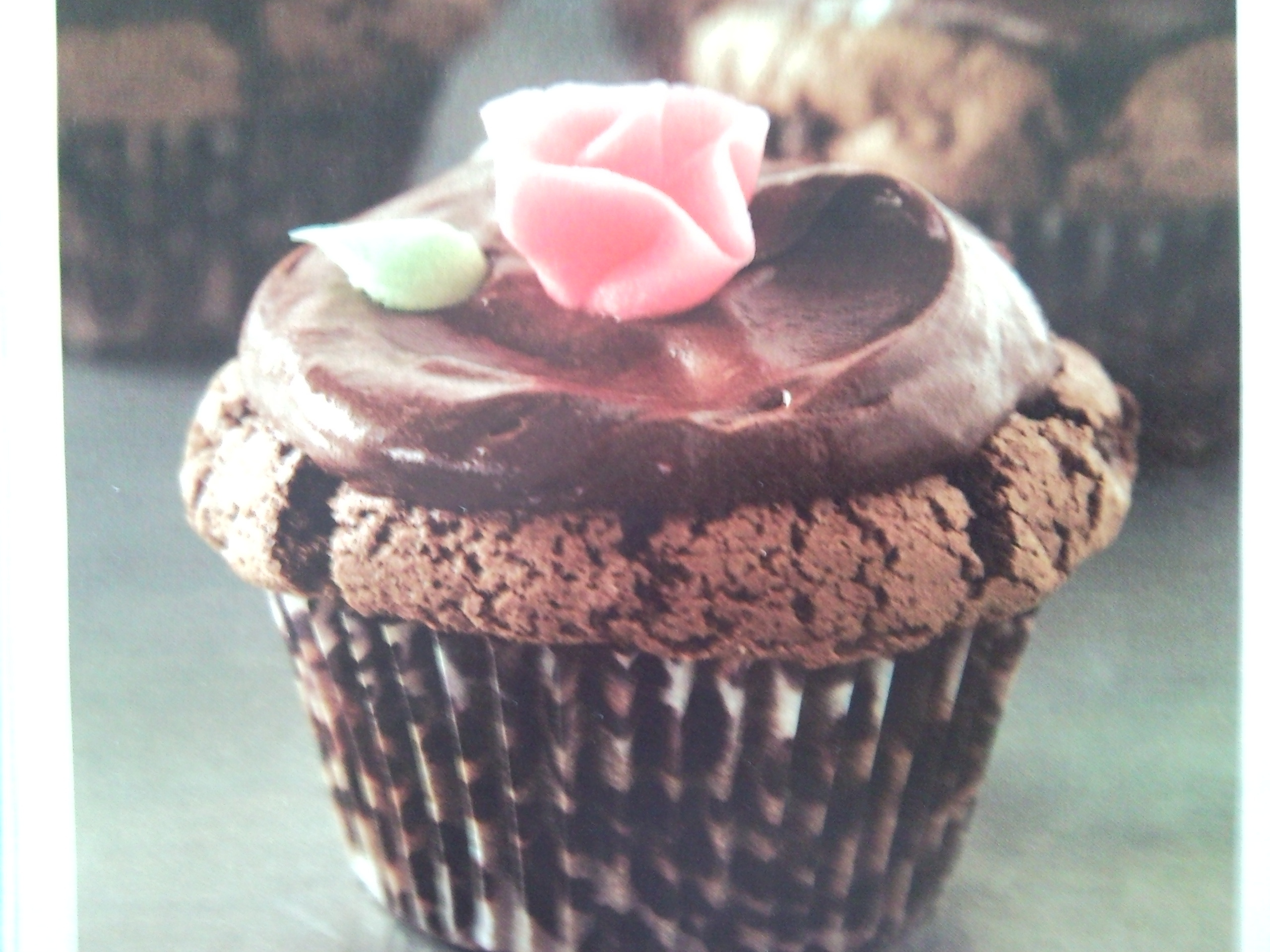 Chokladmuffins med kakaofrosting