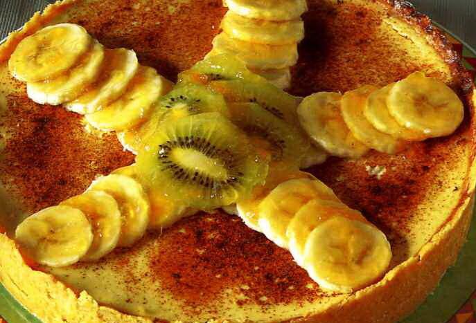 Cheescake med glaserad frukt