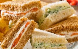 sandwich rökt lax