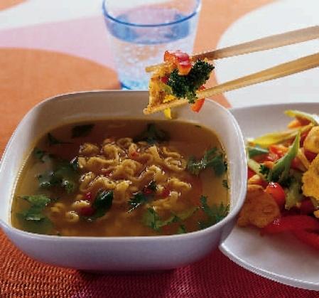 nudelsoppa wokgrönsaker