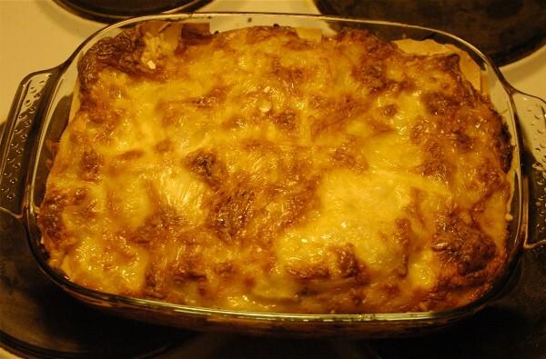 Lasagne med höna