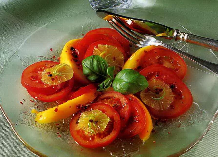 Tomatentré med mango