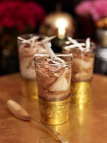 Choklad- och mintmousse