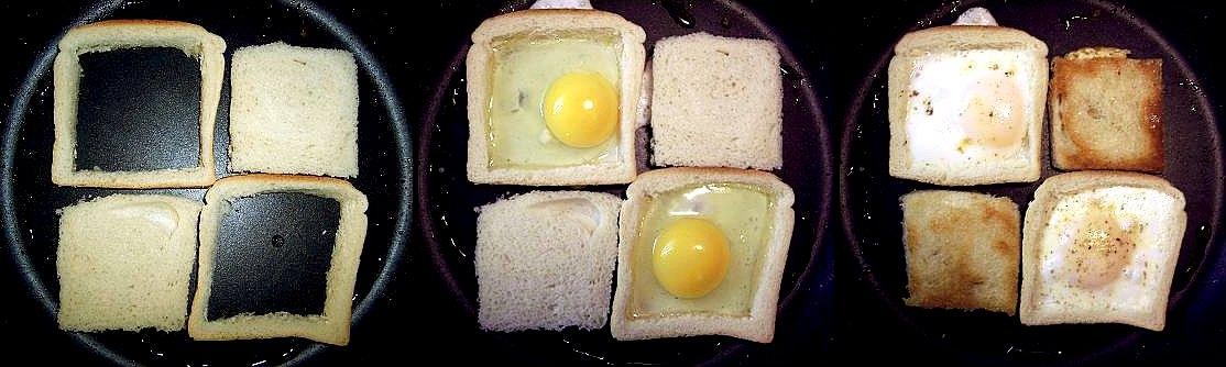 Stekta ägg i br..