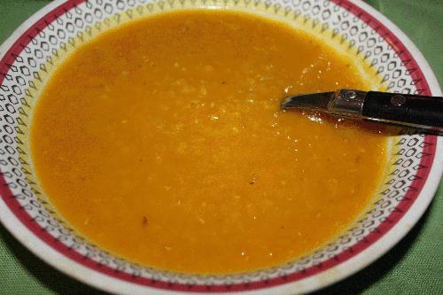 linssoppa röda linser utan buljong