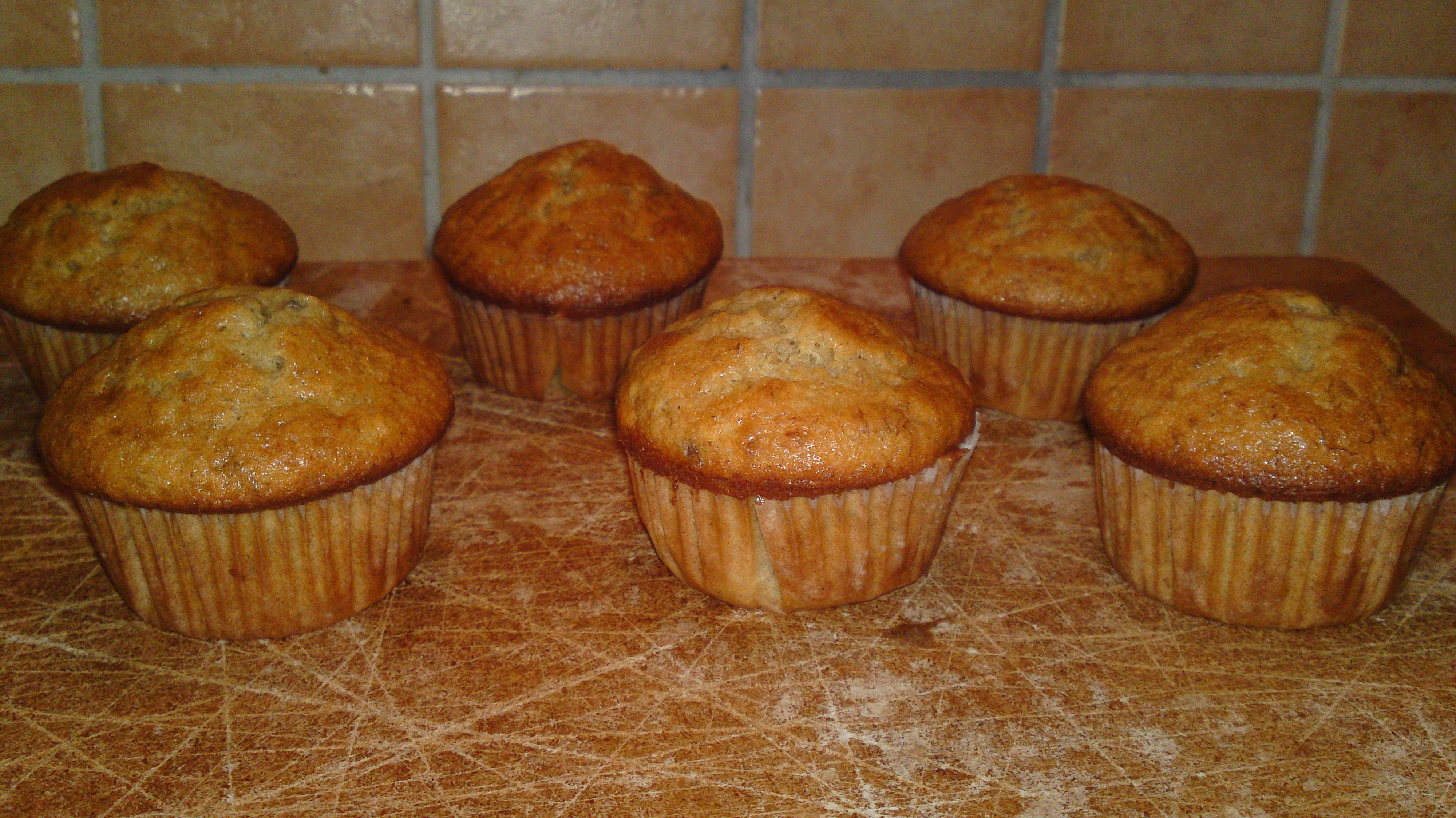fluffiga bananmuffins