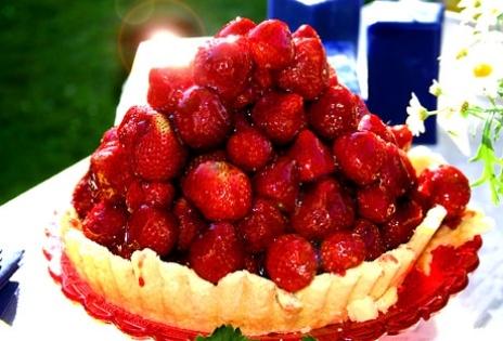 liten jordgubbstårta