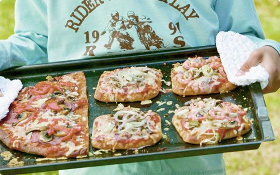 pizza sallad