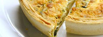 ost och skink paj