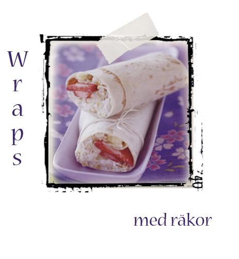 Wraps med räkor