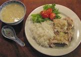 Baiyin Ji - kokt kyckling med ingefära och majssoppa