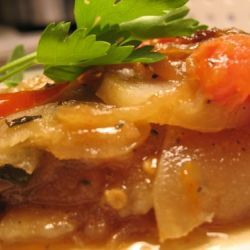 moussaka vegetarisk potatis