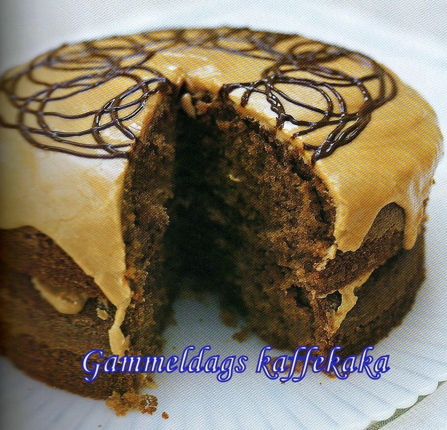 brun kaka med kaffe