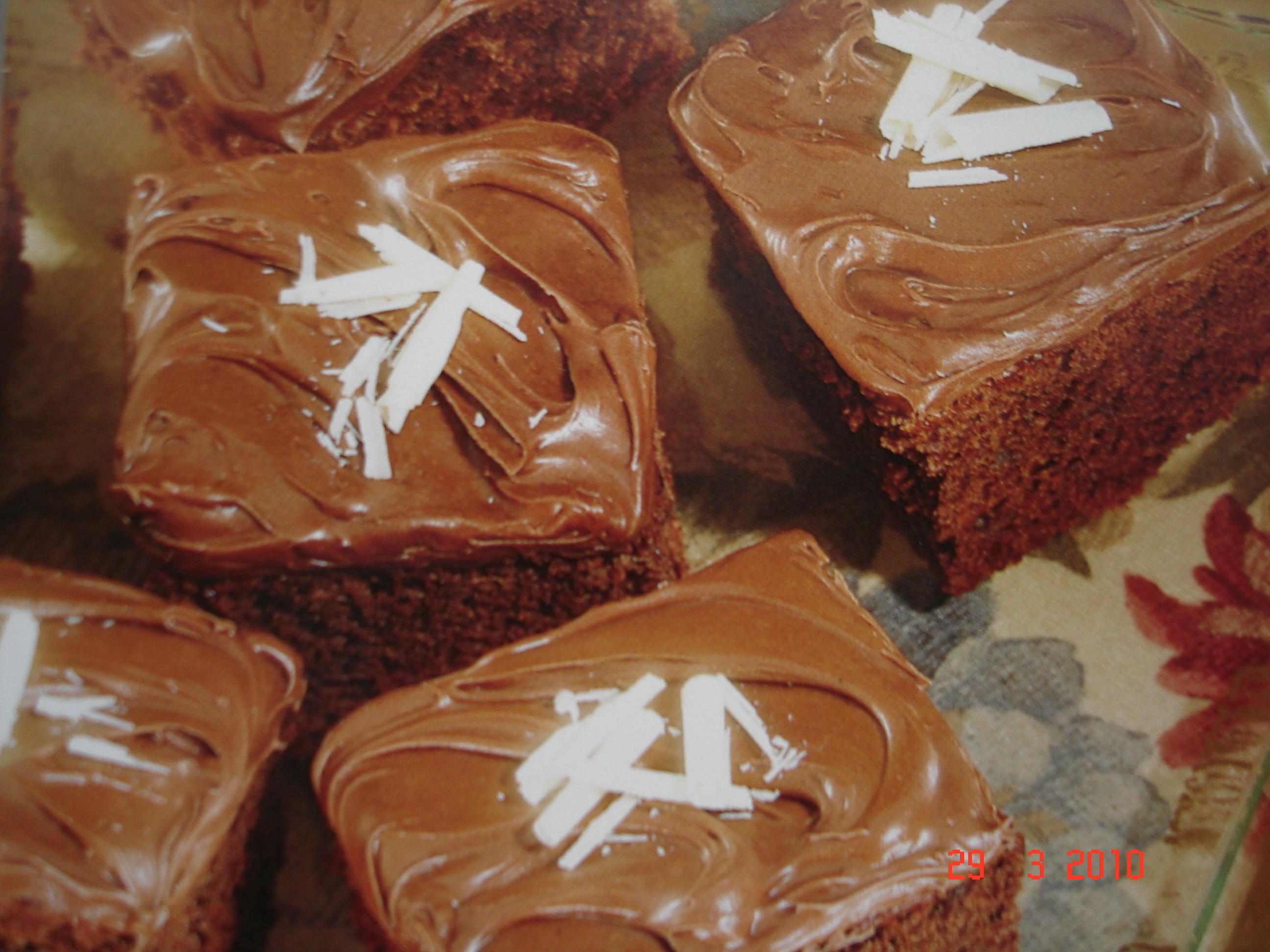 Chokladkakor med glasyr