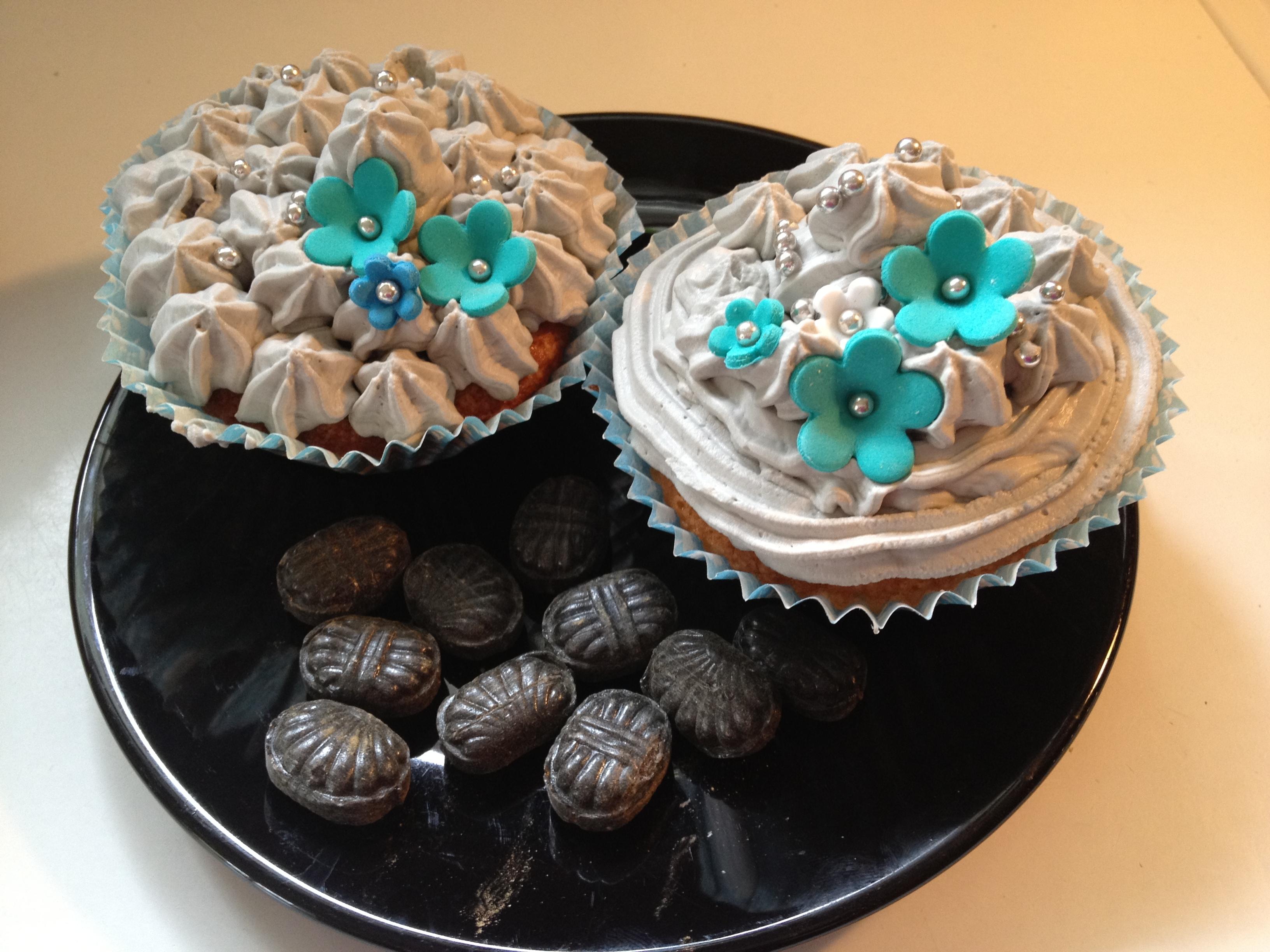 Citroncupcakes med turkisk peppar-fluff