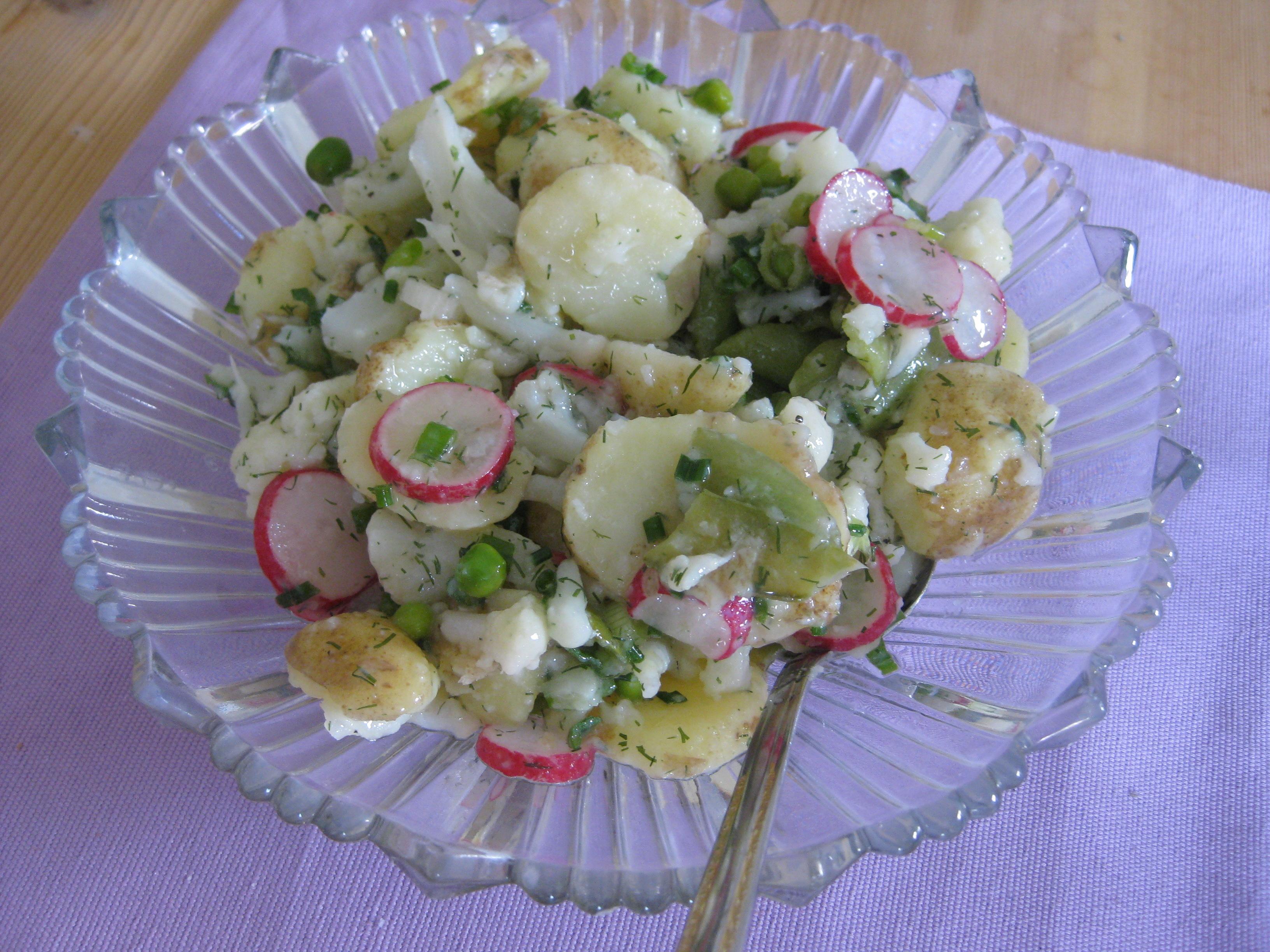 Potatissallad med blomk�l
