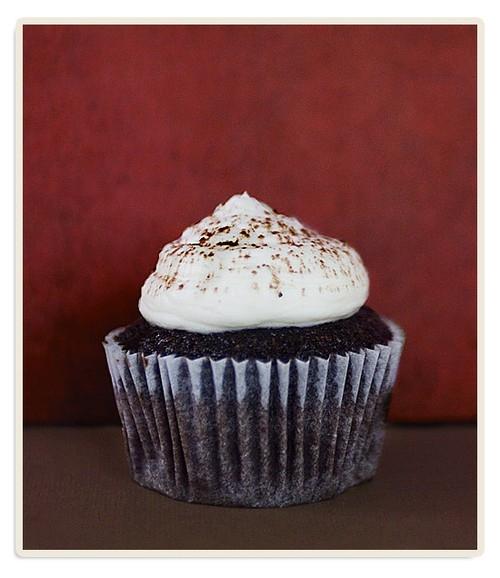 "Martha Stuart's ""en skål chokladcupcakes"""